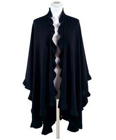 antonella_wrap_navy_mock Scarf Jewelry, Blackberry, Navy, Sweaters, Fashion, Hale Navy, Moda, Fashion Styles, Blackberries