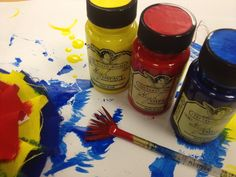 Tattered Angels High Impact Paints - red, yellow and blue perfect for mixed media projects - paper, canvas, burlap, wood, plastic, glass .... #mixedmediapaints