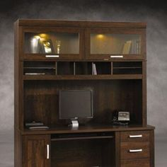 Sauder® Office Portu0027 Hutch With Glass Doors   Sears | Sears Canada $579.99