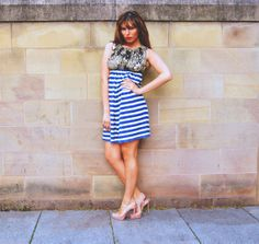 African Print Wax Cotton and Stripe Jersey Strapless by KhuKhuZ, £45.00