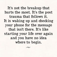 So true and it can be traumatic #lovequotes