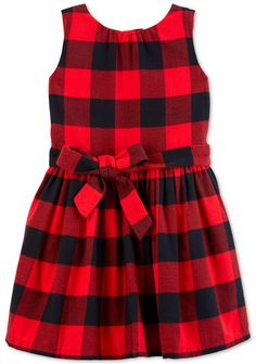 8ccda6cac9ad Carter s Toddler Girls Buffalo-Check Dress Toddler Dress