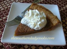 BROWN SUGAR PIE  .. sure sounds easy & delish ... wonder if it can be made without crust but like a pudding in a dish? or with cookies laid on the bottom of a square dish?