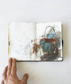 Mark making sketchbooks by Eser Gunduz