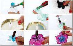 casitas de adornos hechas con botellas pet - Buscar con Google