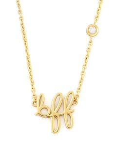 BFF Pendant Bezel Diamond Necklace by SHY by Sydney Evan at Neiman Marcus.