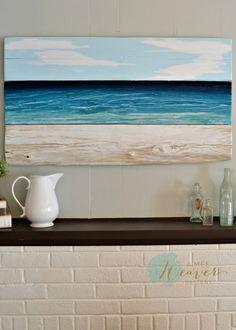 Ocean-Inspired Original Painting – Aimee Weaver Designs, LLC