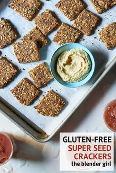 These gluten-free vegan sun-dried tomato and garlic super-seed crackers from the Oh She Glows Everyday cookbook are delicious.