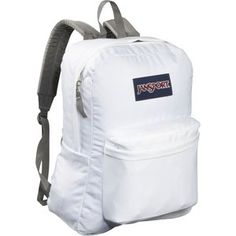NEW Jansport Superbreak White Solid Bag Backpack Bookbag Daypack New with Tags Jansport Superbreak Backpack, White Backpack, Boys Backpacks, School Backpacks, Rucksack Bag, Backpack Bags, Hiking Backpack, White Bags, Bags