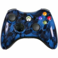 Amazon.com: Custom Xbox 360 Controller Blue Skullz Special Edition: Video Games #customcontroller #custom360controller #moddedcontroller #Xbox360controller