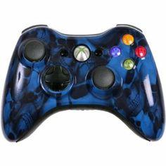 Amazon.com: Custom Xbox 360 Controller Blue Skullz Special Edition: Video Games #customcontroller #custom360controller #moddedcontroller #Xbox360controller