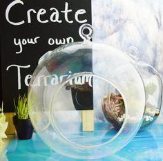 Large Glass Globe Terrarium Orb DIY  by BeachCottageBoutique, $22.00