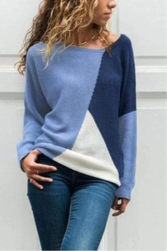 The round neck long sleeve color block knitting sweaters is so soft and comfy , and it suits many fall and winter poccasions. The round neck long sleeve color block knitting sweaters is so soft and comfy , and it suits many fall and winter poccasions. Cute Sweaters For Fall, Cozy Sweaters, Sweaters For Women, Knitting Sweaters, Winter Sweaters, Sweater Fashion, Sweater Outfits, Sweater Cardigan, Look Fashion