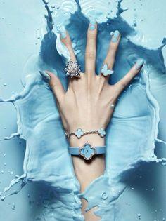 #blue #paint splash #jewellery still life