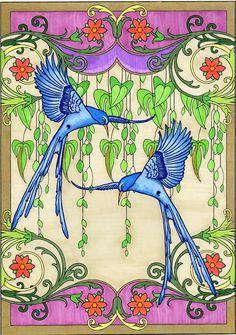 Amazon.com: BellaBella by the sea ~~~'s review of Creative Haven Art Nouveau Nature Designs ...