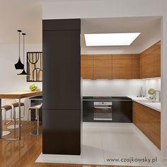 projekt otwartej kuchni wariant kolorystyczny 1