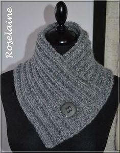 Un chauffe-cou au tricot   je voudrais faire ça pour ma petite fille mais  73 ans et je savais tricoter mais j ais j ai tout perduje voudrais le modele