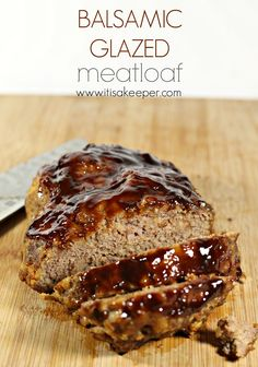 recipe for Balsamic Glazed Meatloaf is one of my son's favorite super easy recipes. It's tangy and sweet and can be ready in 30 minutes! Balsamic Vinegar Recipes, Balsamic Chicken Recipes, Good Meatloaf Recipe, Best Meatloaf, Traditional Meatloaf Recipes, Meatloaf Glaze, Cooking Recipes, Easy Recipes, Dutch Recipes