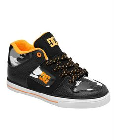 DC Black & Orange Radar Sneaker - Kids