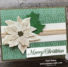 Poinsettia Petals Christmas Card — P.S. Paper Crafts Diy Christmas Cards, Merry Christmas, Xmas, Poinsettia Cards, Pretty Cards, Stampin Up, Projects To Try, Greeting Cards, Paper Crafts