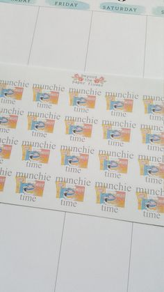 Check out this item in my Etsy shop https://www.etsy.com/listing/452643760/20-munchie-time-stickers