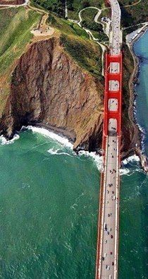 #VistaAérea del #Puente #GoldenGate, en San Francisco, California. vía Twitter Civil Engineering Discoveries @GeotechTips