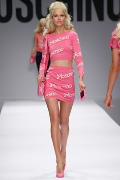 Moschino rtw Spring 2015 Runway Barbie Inspired Show