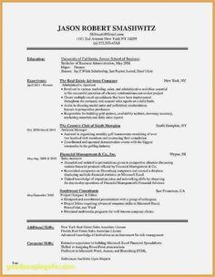 Biology and Chemistry Student Resume