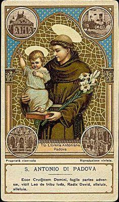 S. Antonio di Padova - Holy card / Image pieuse / Heiligenbild | Flickr - Photo Sharing!