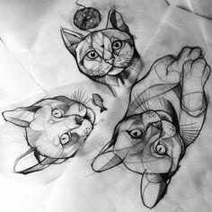 Miaw #cats #katzen #tattoo #sketch #berlin #istanbul #drawing