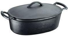 A caçarola de 5 litros tem formato para o preparo de peças grandes de carne...