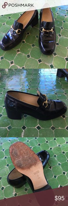 "Gucci Loafers This great pair of classic Gucci Loafers are simply perfect dressed up or down. Size 7.5 (though they fit more like a 7) Super comfortable with a perfect heel height of 2"". In great condition. Gucci Shoes Flats & Loafers"