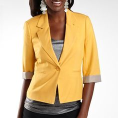 $17 Decree® Ruched-Sleeve Blazer Jacket - jcpenney