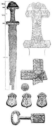 Drawings of ninth century artifacts from Moravia - blog about history, need to explore further