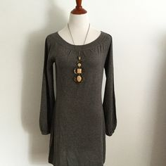 Joie Gray Glitter Dress This dress has spend a weekend in Paris and had dinner in Vail! It is the perspective dress for any occasion wear with tights and boots or jean jacket and flats... It travels well and always looks brand new! Silk, cashmere poly blend. Joie Dresses