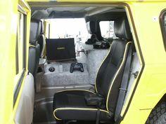 My HUMMER H1 interior, back seat