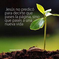 #Jesús no predico para decirte que pases la página, si no que pases a una nueva vida