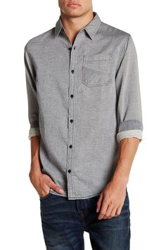 Diamond Quilted Long Sleeve Shirt