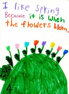 Kindergarten children observe, discuss, sing about and write  about each new season.    They proofread and  edit   six-page folded books about their favorite season.   Some of these becomes  published books.  This is one of many opinion writing pieces from Nellie Edge seminars. http://www.nellieedge.com/ccss/writing/Opinion-Writing.pdf