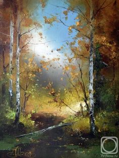 Painting «Not titled - Painting «Not titled Darison Malerei Painting «Not titled Abstract Tree Painting, Autumn Painting, Watercolor Trees, Watercolor Landscape, Abstract Landscape, Landscape Paintings, Watercolor Paintings, Great Paintings, Beautiful Paintings