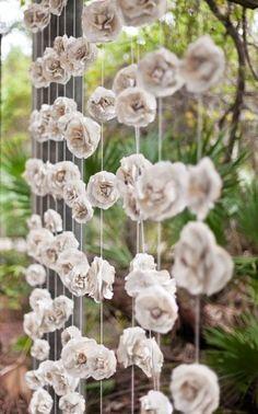 Book page paper diy roses garland - hanger decoration, paper roses crafts