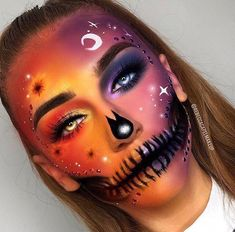Kiko Milano 🎃 Halloween Makeup 🎃 More from my site Unisex Make-Up, Gesichtswasser und Körperfarbe Makeup Fx, Witch Makeup, Skull Makeup, Liquid Makeup, Clown Makeup, Face Paint Makeup, Dead Makeup, Eyeliner Makeup, Fairy Makeup
