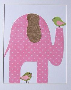 Like a giant teddy bear-Baby Room Nursery Decor Art for Children Girls Room by vtdesigns, $14.00