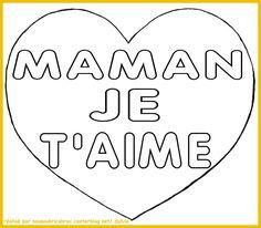 Coloriage A Imprimer De Coeur Pour Maman