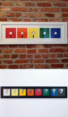 Quadros Decorativos com Disquetes #diy #floppydisk #disquete #reciclar #reaproveitar