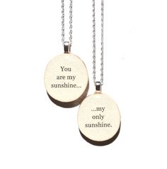Mother daughter necklace set . Mother child gift . going away gift . mothers day jewelry gift sets jewelry reclaimed wood gift