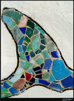 Mosaic tile ocean wave.  aleta gaudi