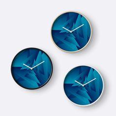 'Crazy Triangle Art' Clock by Rizwana Khan Triangle Art, Purple Marble, Quartz Clock Mechanism, Art Prints, Wall Art, Frame, Artwork, Color, Art Impressions