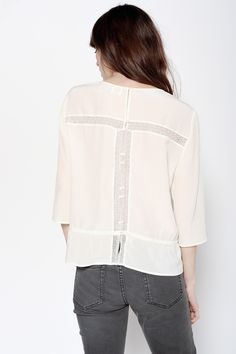 Blouse Gupi Ecru - Blouses et chemises - categories - e-shop