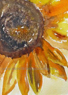 Sunflower PRINT kitchen wall art home decor by rachellelevingston, $12.00